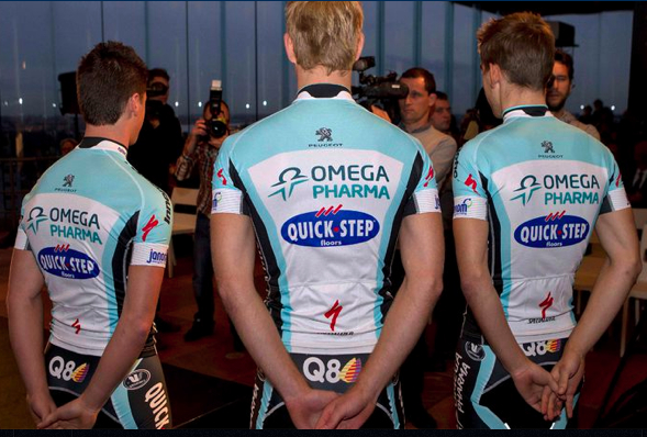 Step Team Uniforms http://www.pedaldancer.com/2011/12/new-2012-omega-pharma-quick-step-jersey.html