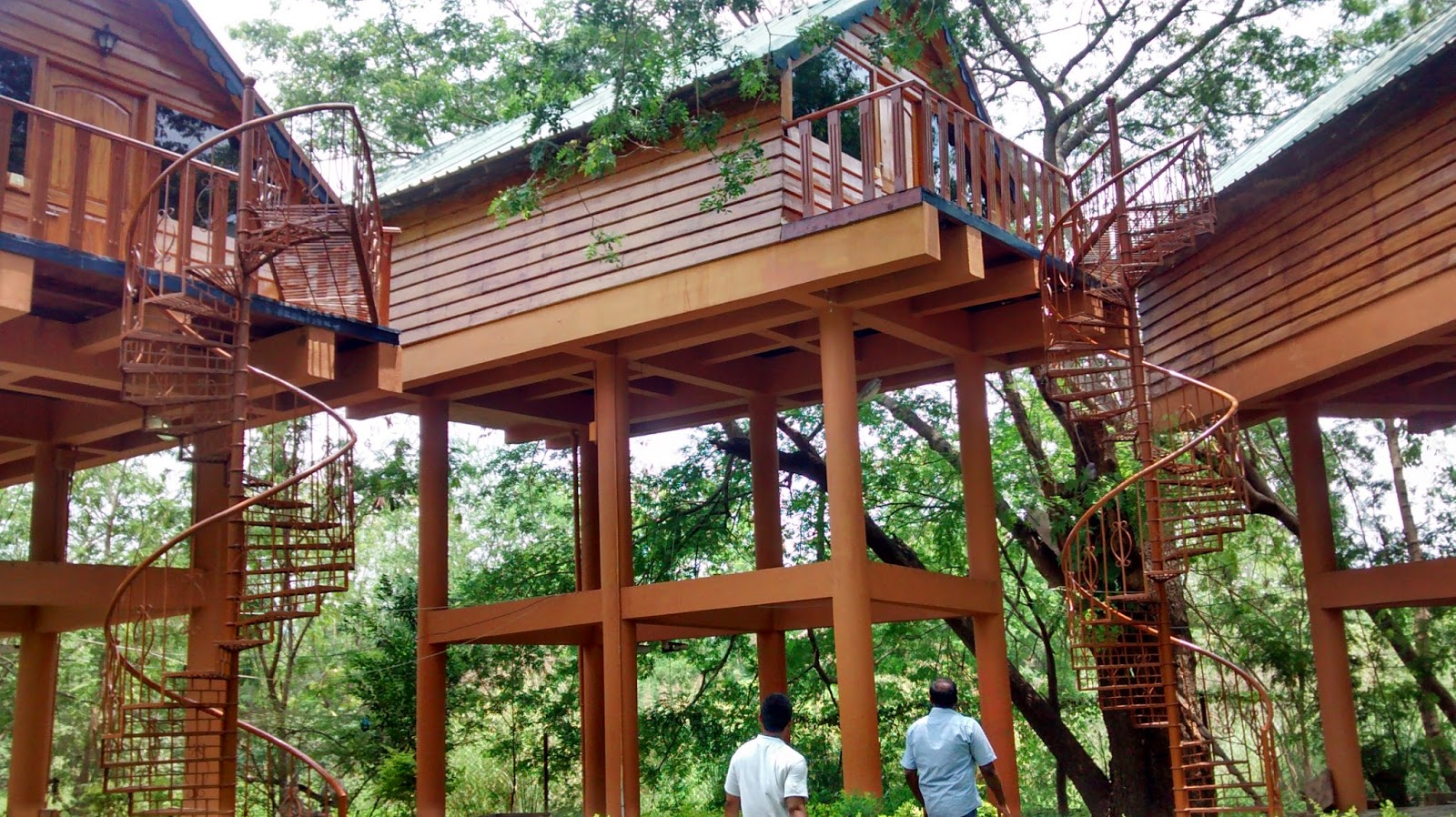 Tree top cottages in Bhavani Island