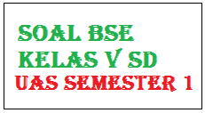Soal UAS Pelajaran IPA Kelas 5 SD Semester Ganjil/1 KTSP (Soal BSE)