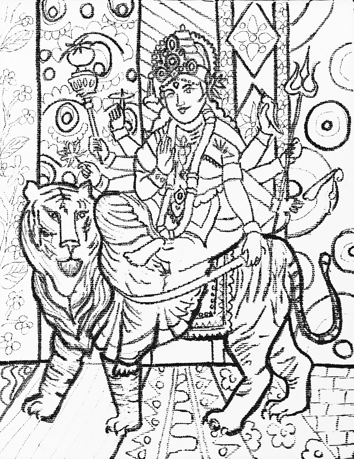 Coloring page x marks the spot