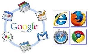 Google Apps, podrška za moderne web preglednike Chrome, Firefox, Internet Explorer, Safari
