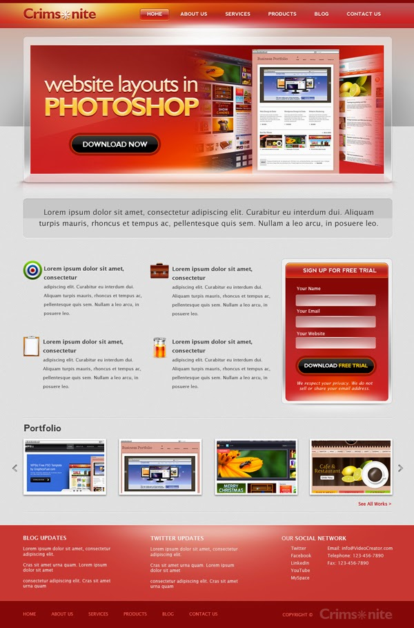 Corporate Website Template PSD