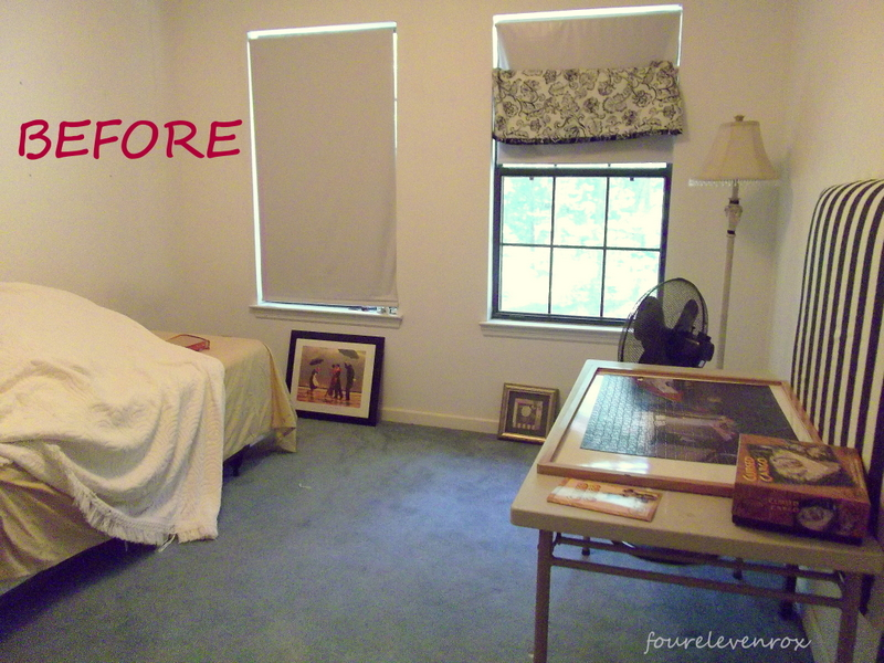 Four eleven rox guest room office it 39 s done for Spare bedroom office ideas