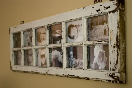 Reciclarte monterrey puerta vieja como marco de retratos for Como barnizar una puerta vieja