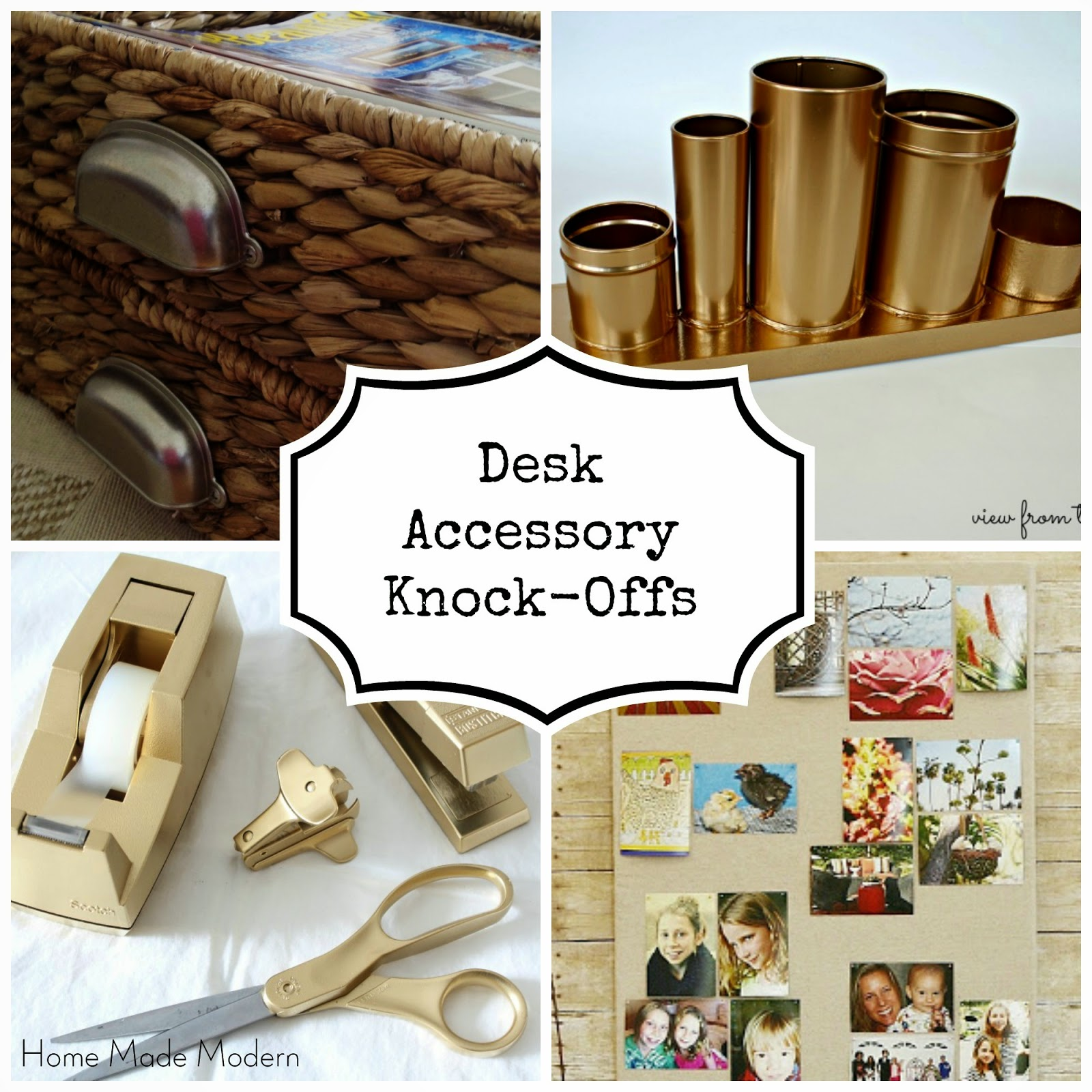 home made modern ultra chic diy desk accessories