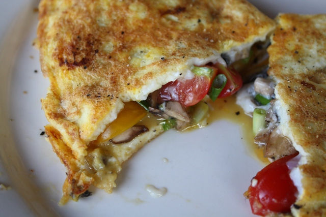 Vegetable Omelets recipe by Barefeet In The Kitchen