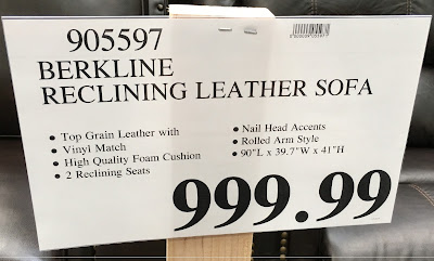 Deal for the Berkline Leather Reclining Sofa at Costco
