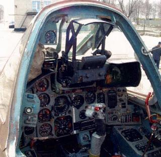 Кабина штурмовика Су 25Т Липецкого авиацентра.