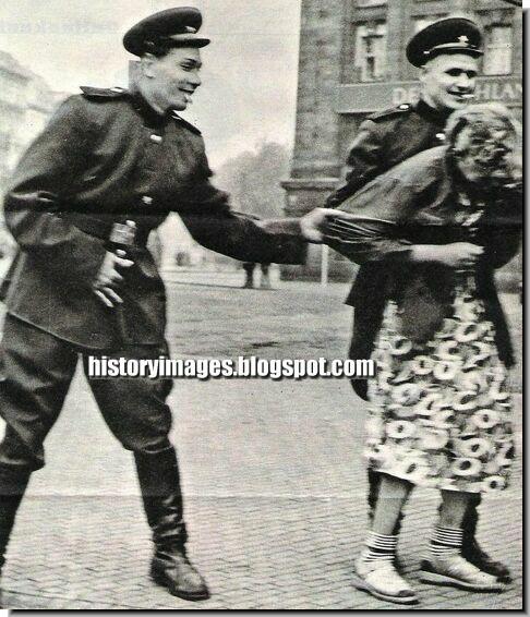 Rape German women WW2 Red Army soldiers