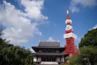 ナノブロック×現実世界(東京タワー)
