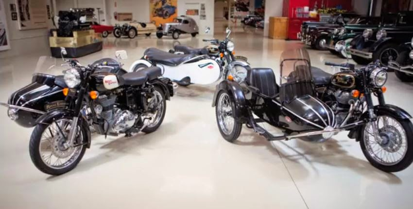 Royal enfield sidecars in jay leno's garage