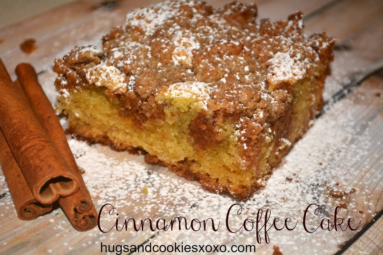 SOUR CREAM CINNAMON COFFEE CAKE - Hugs and Cookies XOXO