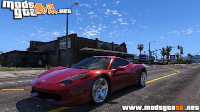 V - Ferrari 458 Italia para GTA V PC