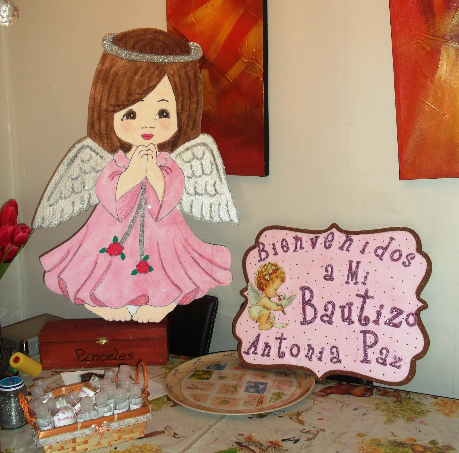 Eventos para tu Bebé: Letrero Bautizo