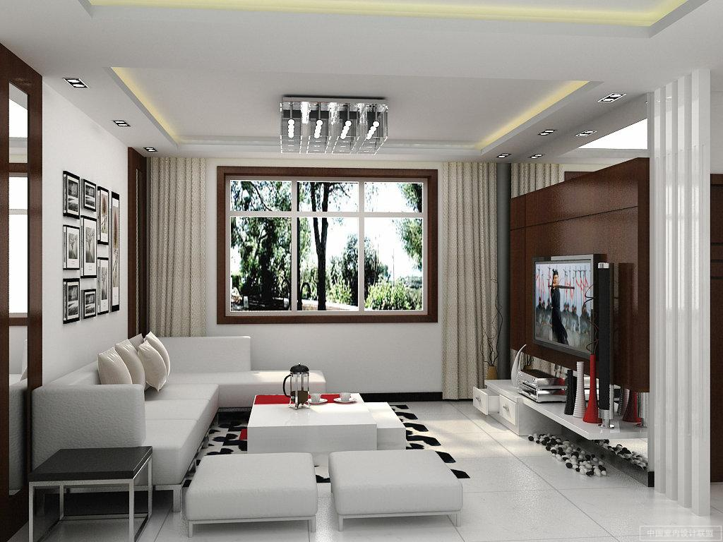 Modern Living Room Interior Decorations Ideas red- modern - living  title=