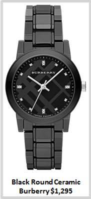 Sydney Fashion Hunter - Timeless Timepieces - Burberry Black Round Ceramic Watch