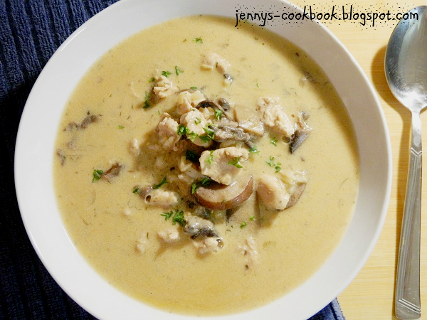 Jenny's Cookbook: Creamy Chicken and Mushroom Soup