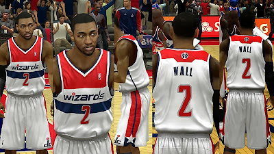 NBA 2K14 Washington Wizards Home Jersey