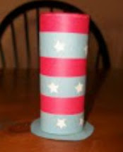How to make an Uncle Sam hat craft for Kids