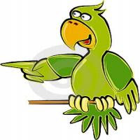 Nas piadas papagaios são muito espertos.