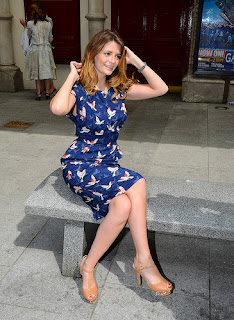 Mischa Barton photographed outside the Gaeity Theatre in Dublin