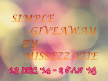 Simple Giveaway by MISSEZZATIE