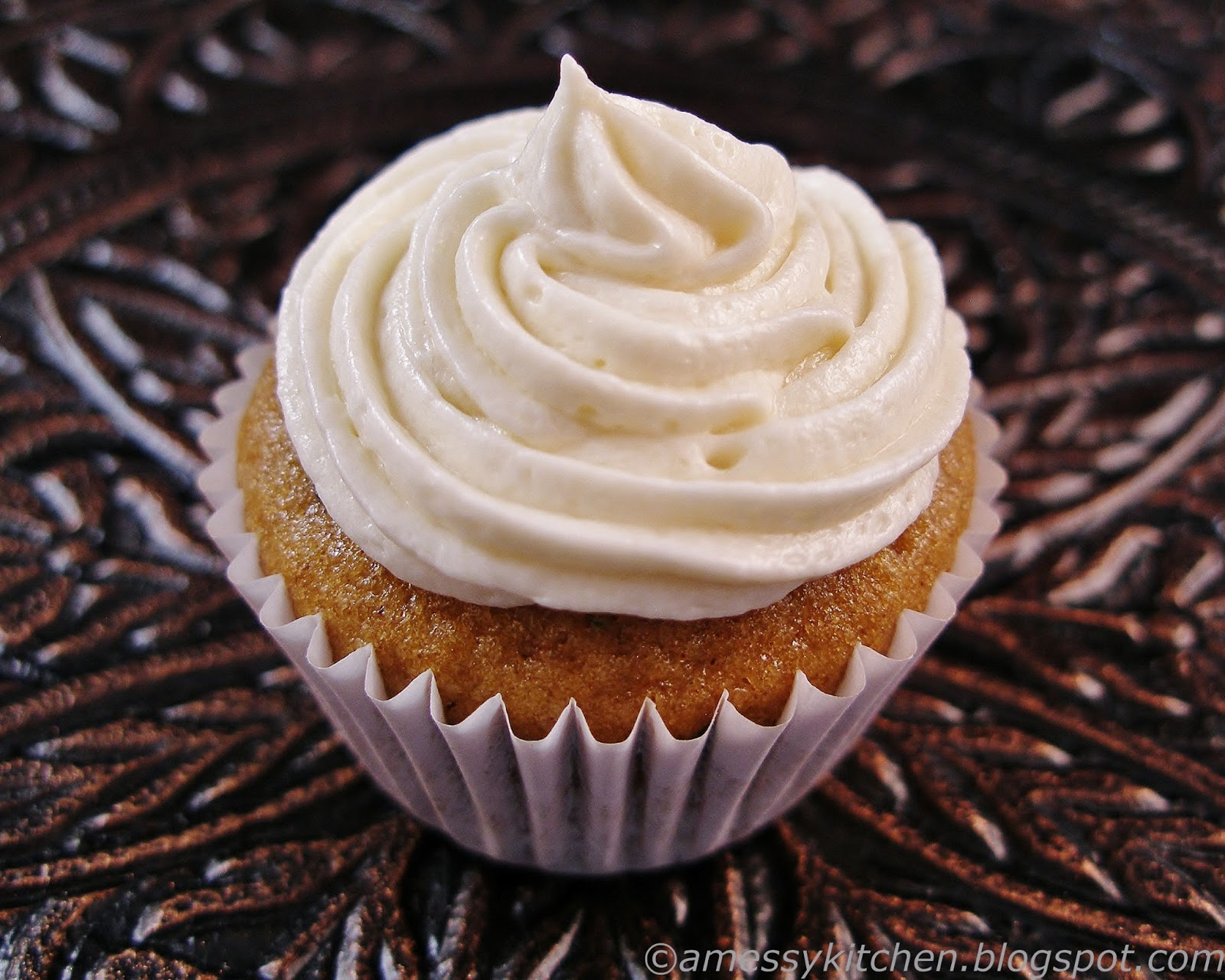 "... : Mini Zucchini Spice Cupcakes with ""Un-canned"" Cream Cheese Fr..."