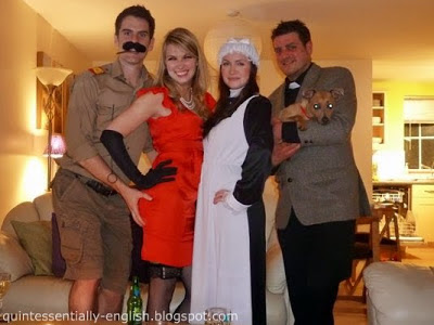 Cluedo Characters - Colonel Mustard, Miss Scarlett, Mrs White, Rev Green