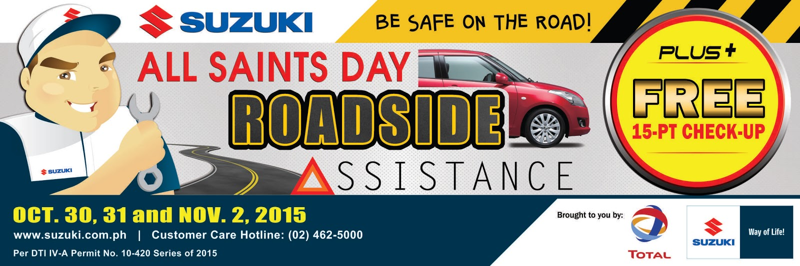 Suzuki All Saints Day Roadside Assistance