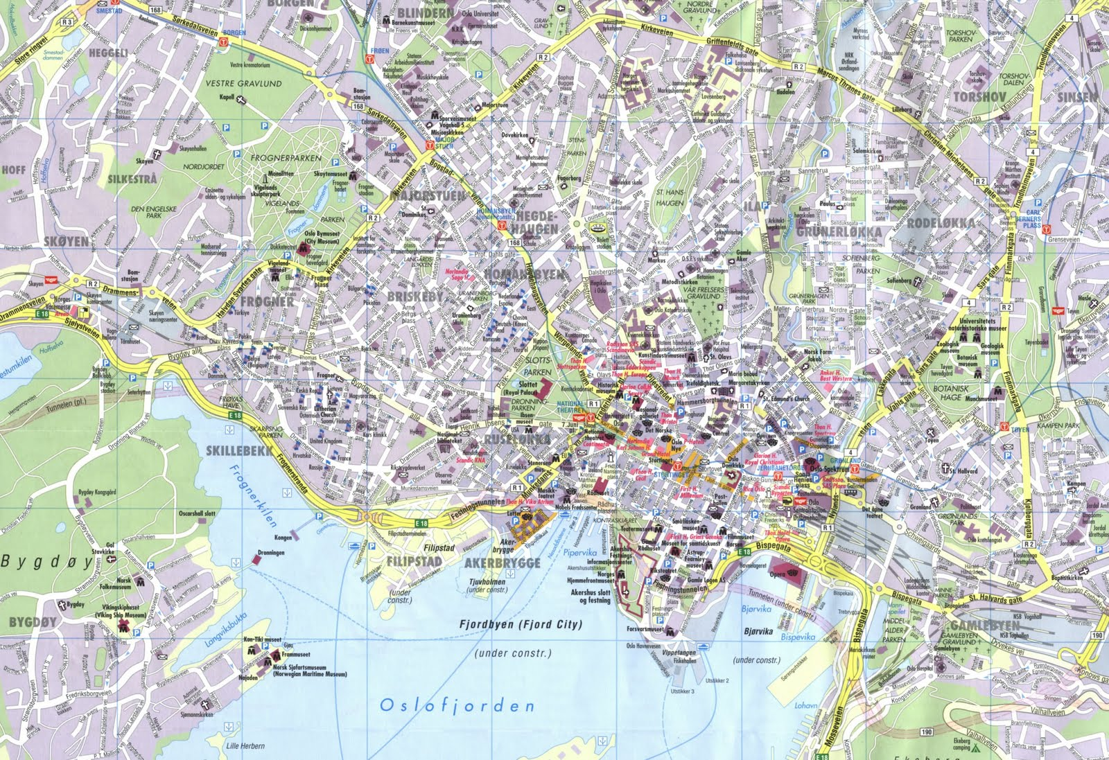 oslo city map tourist oslo norway blog about interesting places