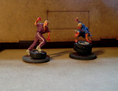 Zombicide, bases, mantic, zombie, paint, DIY
