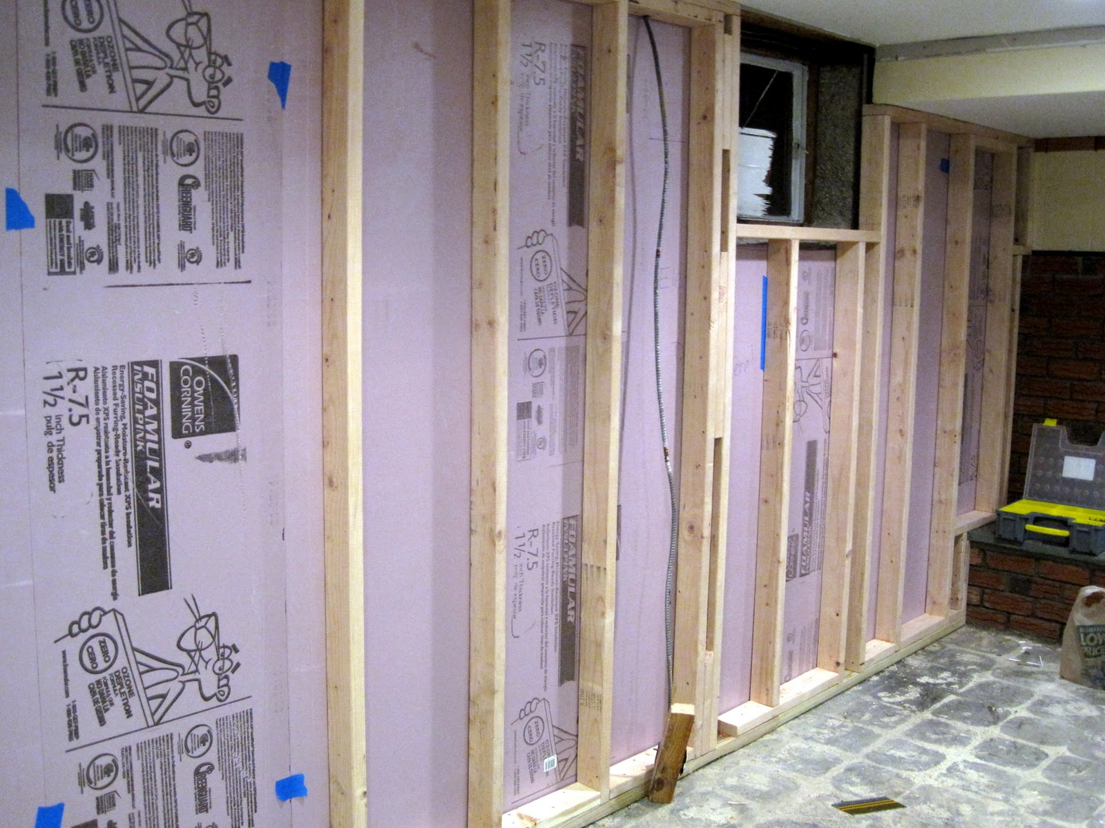 ... Waterproof Sheetrock For Bathrooms By Taupe And Lime The Great Basement  Redo Progress ...