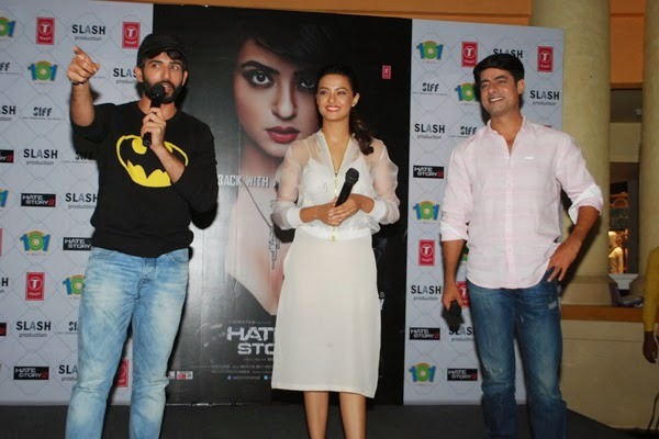 Surveen Chawla, Jay Bhanusali and Sushant promotes Hate Story 2
