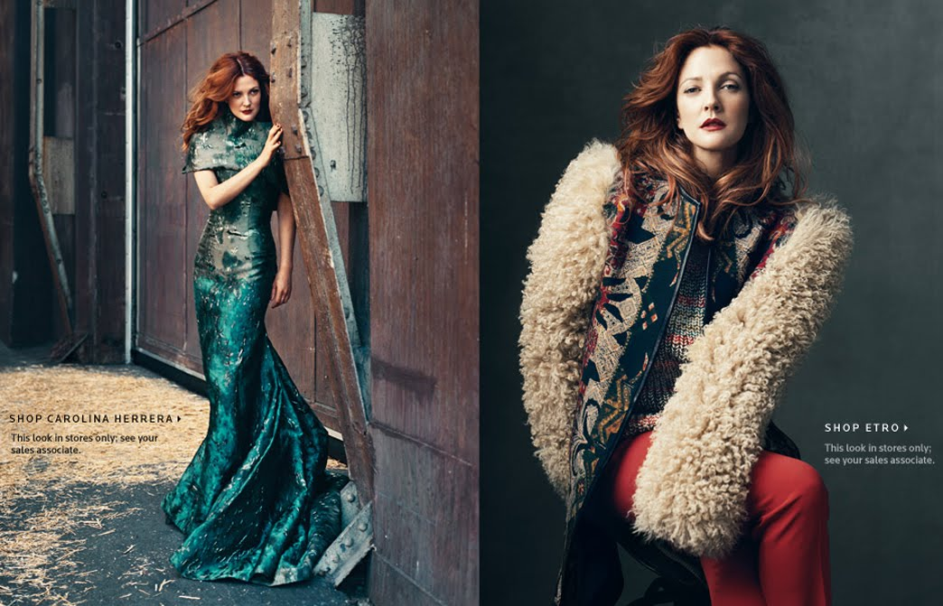 Drew Barrymore for Neiman Marcus ~ Industry Wire by MWN