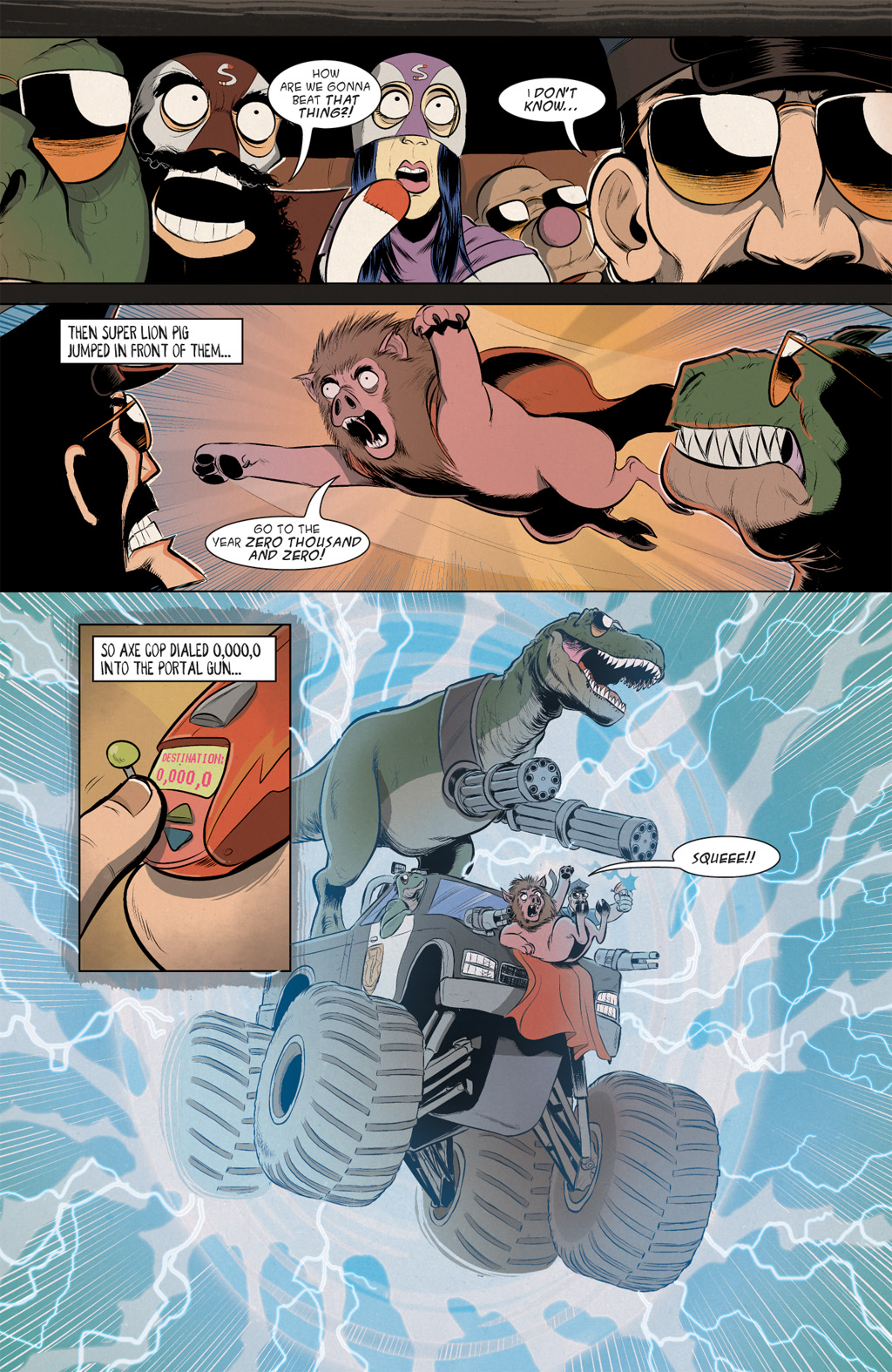 Read online Axe Cop: Bad Guy Earth comic -  Issue #2 - 21