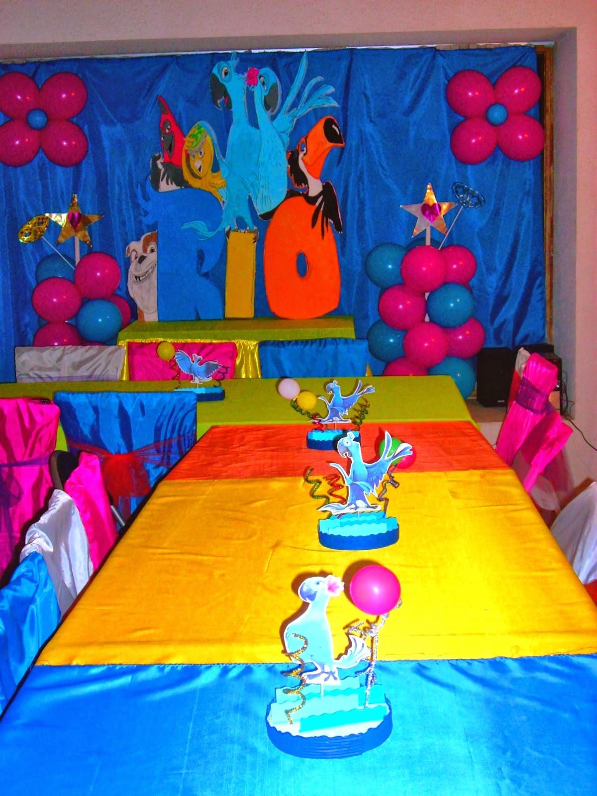 Fiestas Infantiles Decoradas con Rio, parte 1