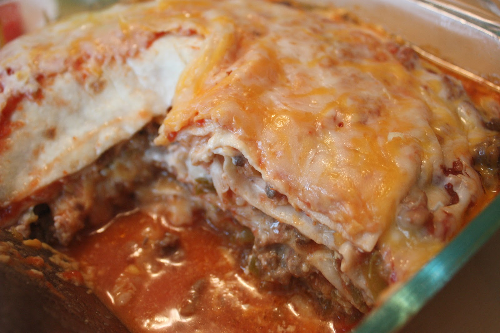 cooking with crystal: Mexican Lasagna