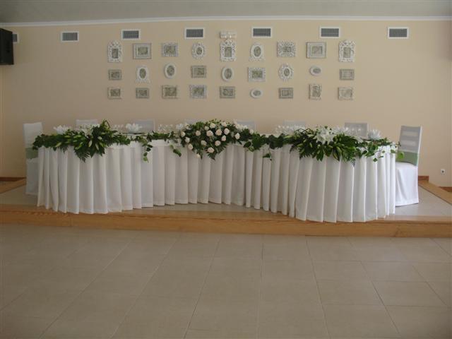 A mesa de honra