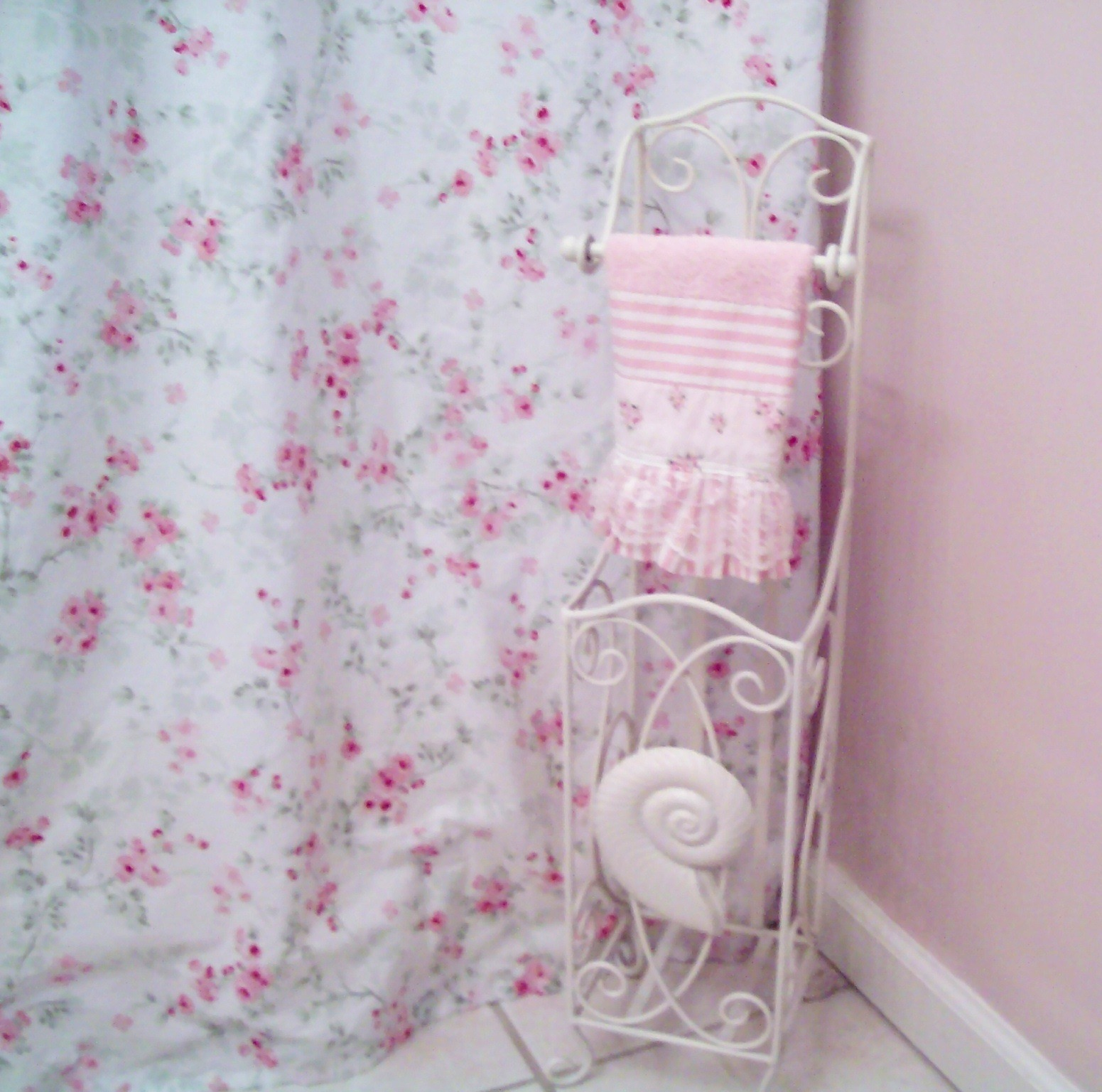 and shower shabby files white chic pattern combined with curtains blue popular of rose in roses trend curtain astonishing
