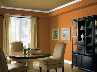 غرف سفرة حديثة باشكال مختلفة  Modern-dining-room-design-in-orange5