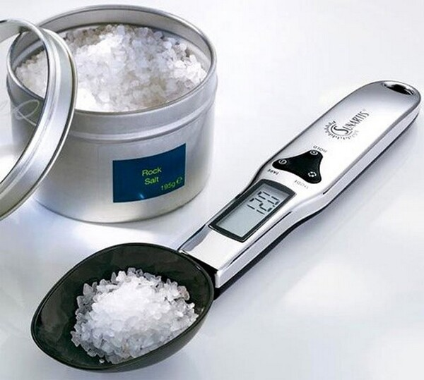 Stainless Steel Digital Spoon Scale With 2 Spoons