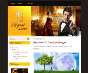 Elegant Dinner Blogger Template