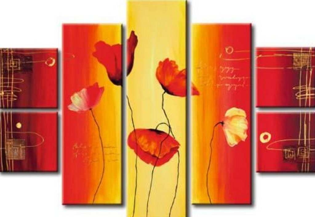 Cuadros en cuatro modulos arte decorativos en acrlico - Cuadros decorativos modernos ...