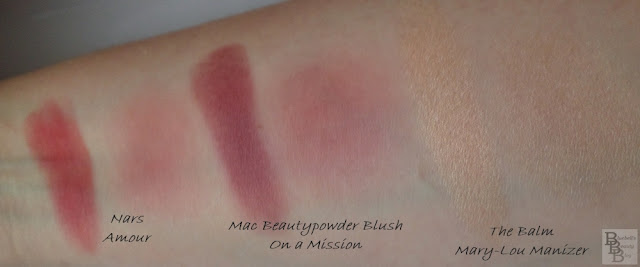 Nars Blush Amour Mac Beautypowder Blush On a Mission The Balm Mary-Lou Manizer