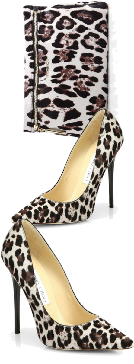 Jimmy Choo Anouk Leopard-Print Calf Hair Pumps