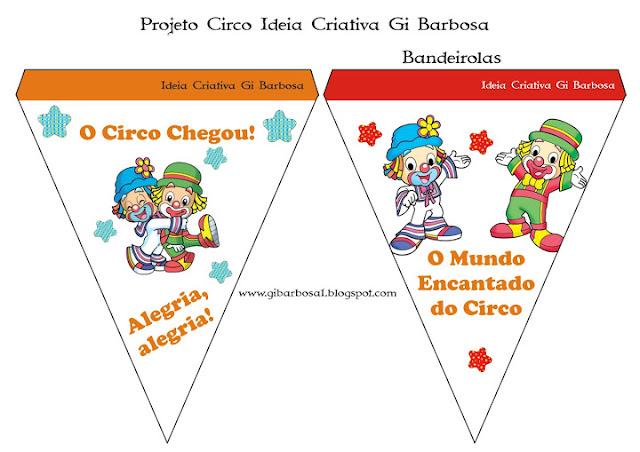 Bandeirolas Projeto Circo Patati Patatá