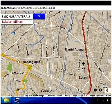 Lokasi SMK Nusaputera 2