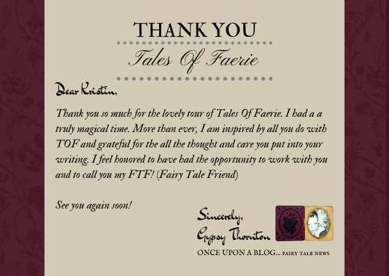 ... thank you to quot;tales of faerie quot; : Thank You Letter After Visit