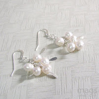 Pearls Earrings by MagsBeadsCreation