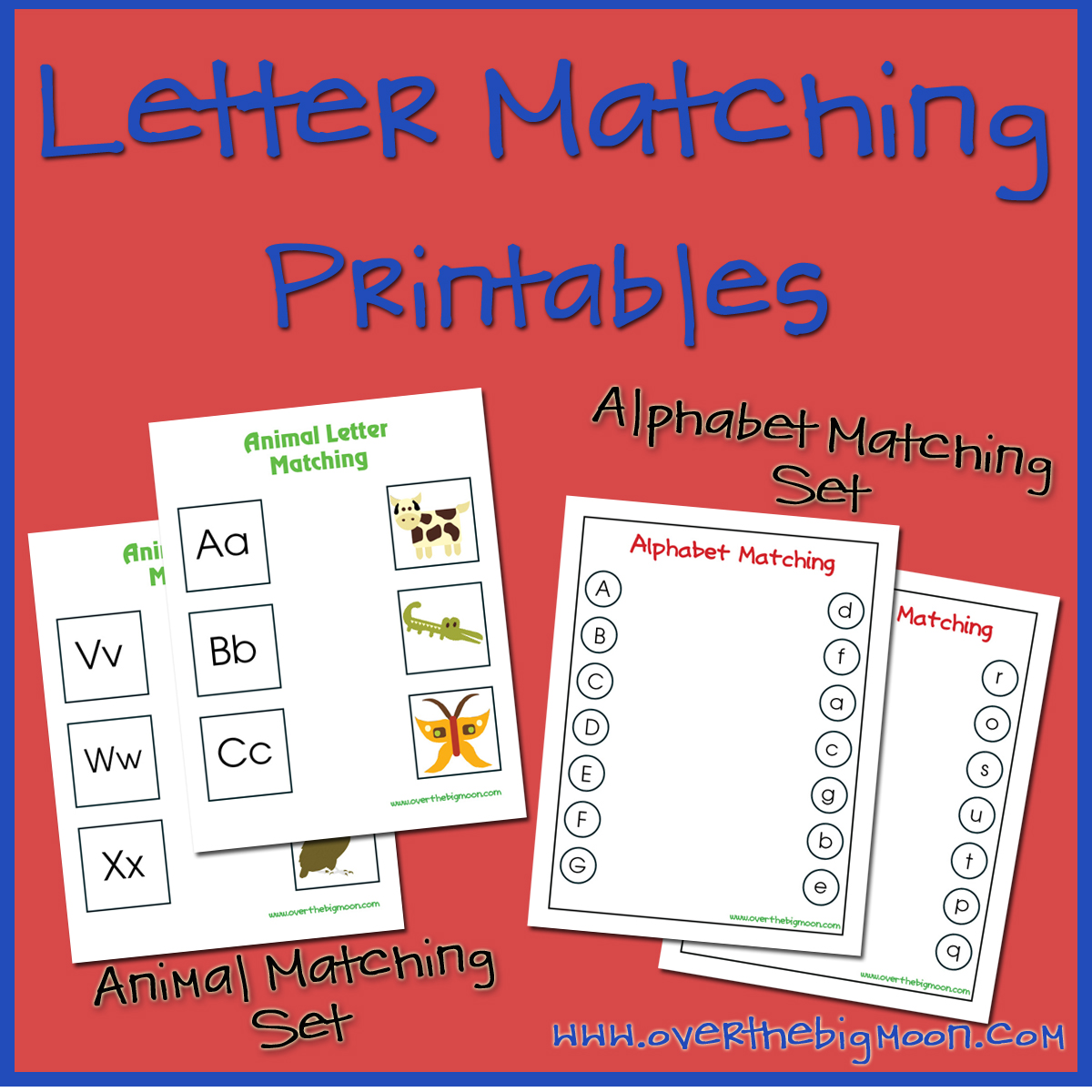 alphabet letters and matching picture print out